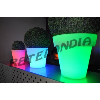 Vaso luminoso POTTY LED RGB senza fili