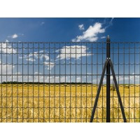 Rete recinzione ANTRACITE plasticata ideale robusta ed elegante per delimitare giardini di abitazioni e siti produttivi.