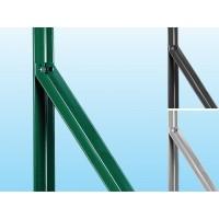 Saetta plastificata a L per recinzioni con rete metallica a rotolo
