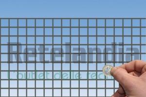 Rete zincata maglia foro mm 19X19 per gabbie recinti conigli, galline, polli
