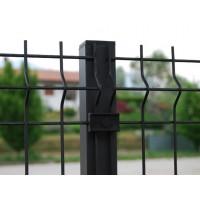 Palo quadro ANTRACITE micaceo per recinzione modulare a cancellata ferro antichizzato