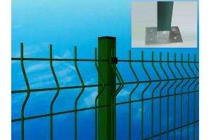 Piattina 4 fori per tassellare pannelli recinzione modulare