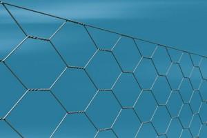 Rete zincata tripla torsione per recinzione galline e polli