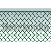 Rete recinzione metallica plasticata MAGLIA SCIOLTA cm 3x3 filo mm 2,6 rotolo m 20