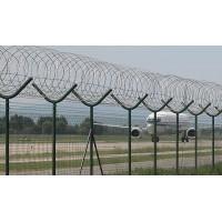 Palo tondo ricurvo con concertina militare per recinzione sicurezza antiscavalcamento