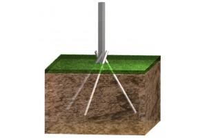 Ancoraggio per paletti recinzione su terreno