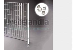 Piantana per pannelli recinzione in grigliato da CEMENTARE