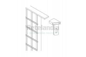 Staffa di compensazione snodabile per curve angoli recinzioni in grigliato
