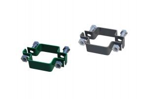 Collare acciaio per palo quadro recinzioni a pannelli modulari