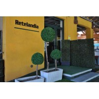 Fioriera separ giardino con siepe artificiale autoportante
